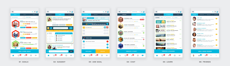 SocioDex Mobile App Design (6 Screens)