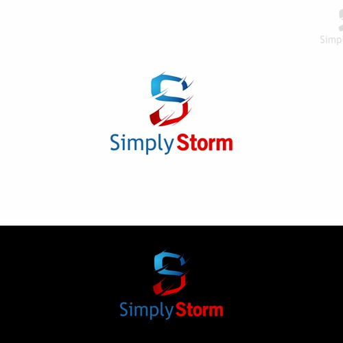 simple logo for Simply Storm
