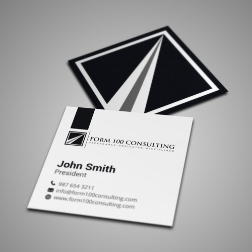 Square business card design