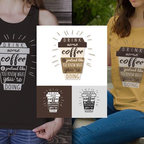 Coffee T-shirt Design