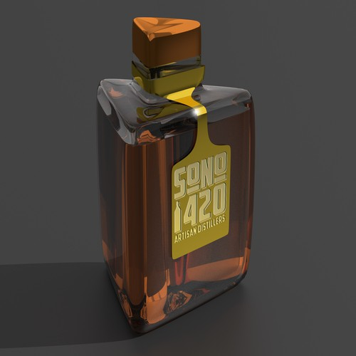 3D design Whiskey bottle