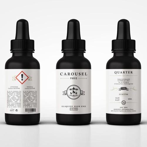 Liquid Bottle Label