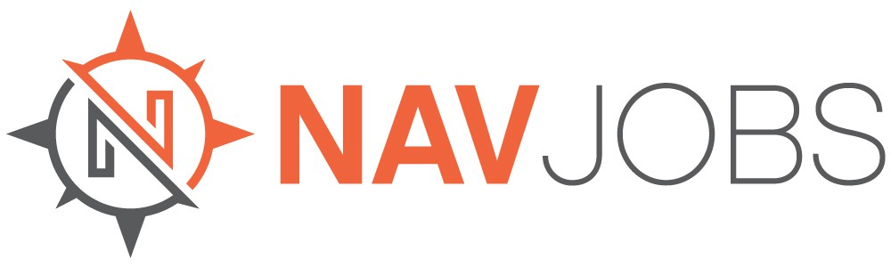 Create a logo for a next-generation employment and recruiting service (NavJobs)