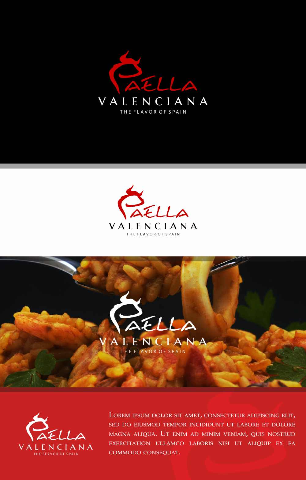 Create a Classy Spanish Bull for my PAELLA catering company!