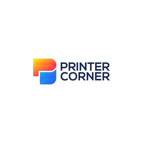 Printer Corner Logo Concept