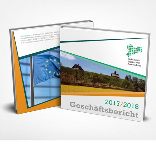 Book cover for the annual report of a German association of local municipalities!