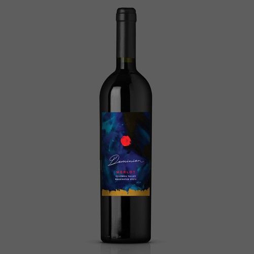 Design for a modern wine label