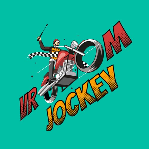 Horse Jockey Meet Motorcycle