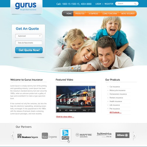 Create the next website design for Gurus