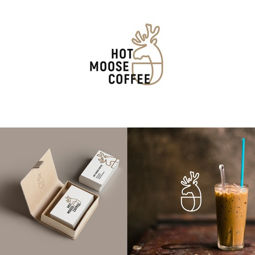 Logo Hot Moose Coffee