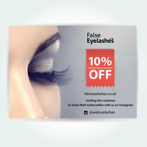 Design an A6 flyer for falseeyelashes.co.uk