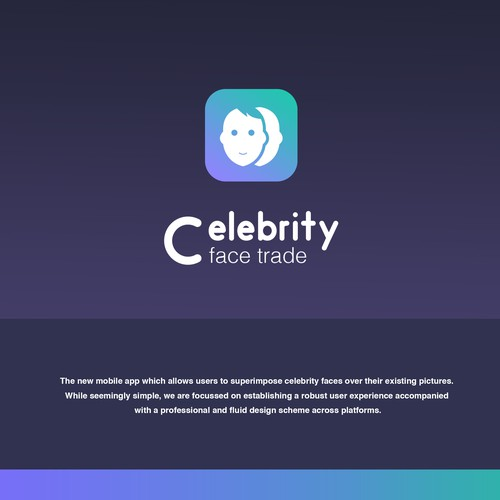 Celebrity Face Trade Logo Icon