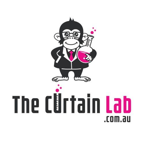Fun mascot logo for curtain company