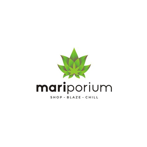 Bold flower logo for Mariporium