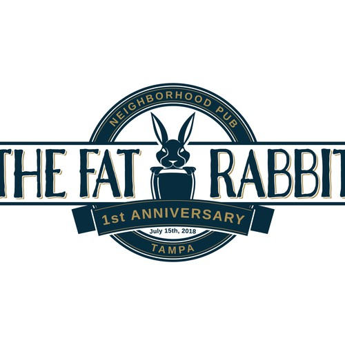 The Fat Rabbit Anniversary Logo