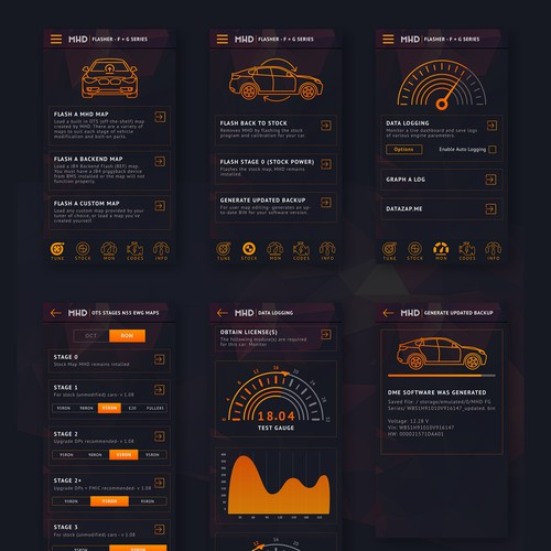 App Design for Car Tuning App