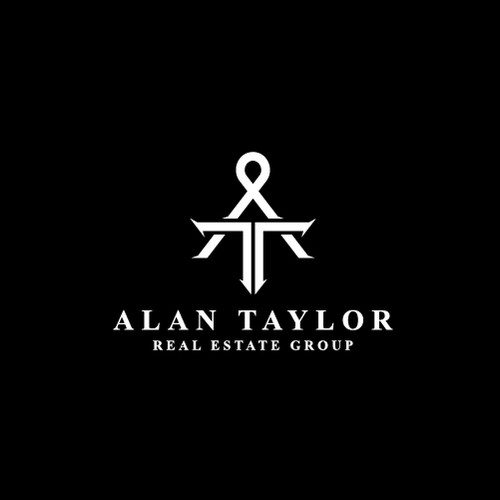 Monogram logo design for a real estate agency.