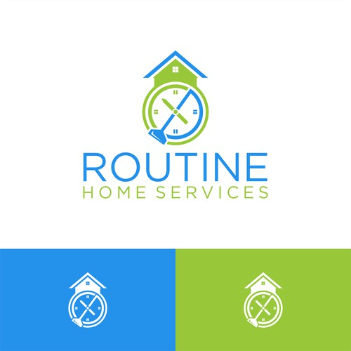 Design a logo for Routine Home Services.