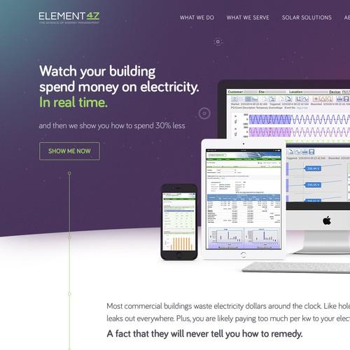 Element47 homepage design