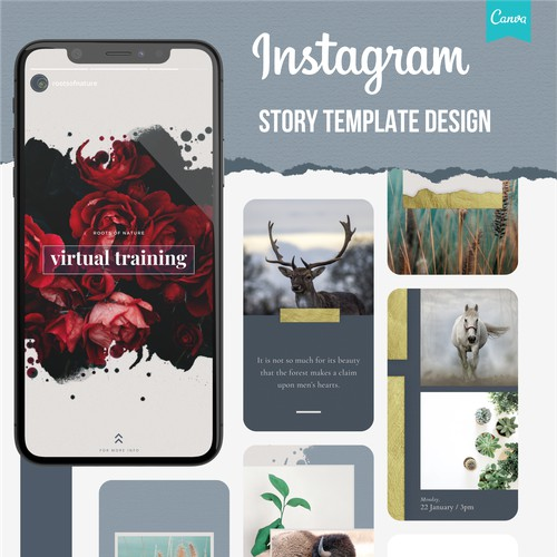 Roots of Nature Instagram Story Template Design