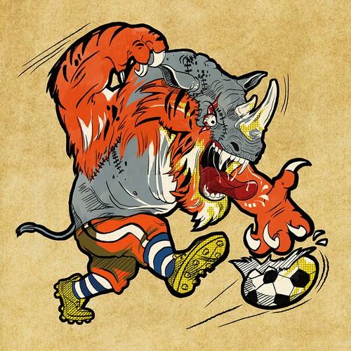 THE BEAST MASCOT! WTF!!!!! PART 1!!! Half Rhino! Half Lion! All scary!!!!!!!! HELP +ME, LLC!