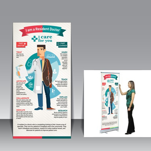 Create a banner explaining the dual role of residency