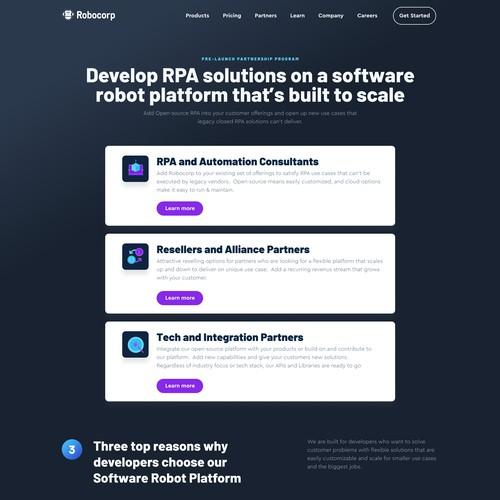 Web page Robot developer