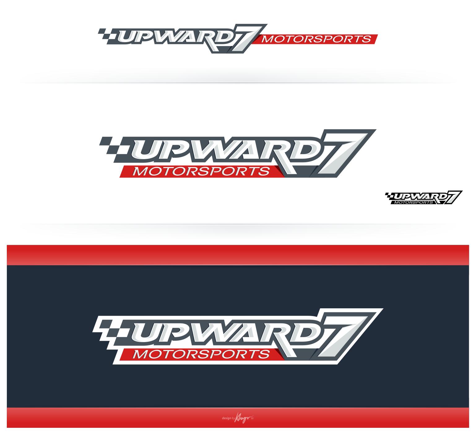Create the next logo for Upward7 Motorsports