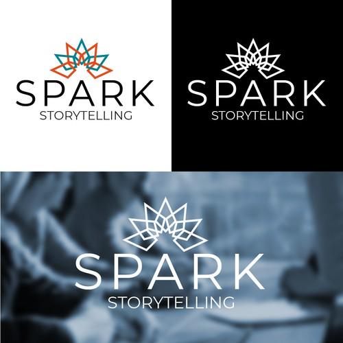 A logo for Spark Storytelling