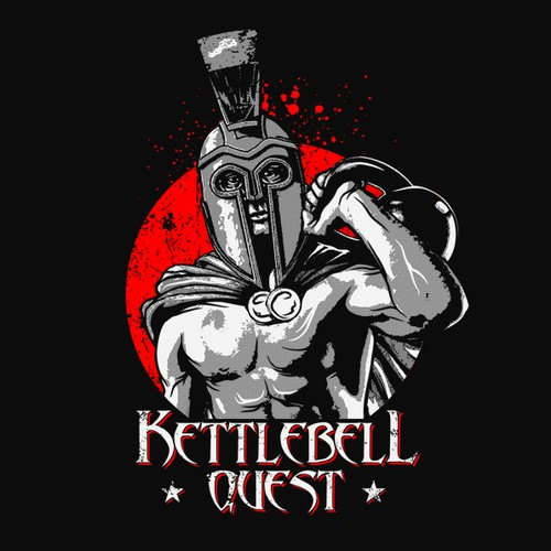 Bold fitness tshirt wanted! Kettlebell Quest