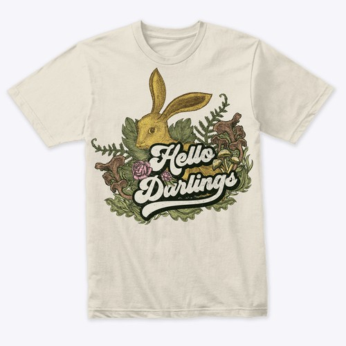 Vintage illustrative t-shirt design