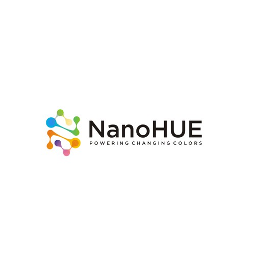 NanoHUE needs a logo that matches its cutting edge, color changing technology.