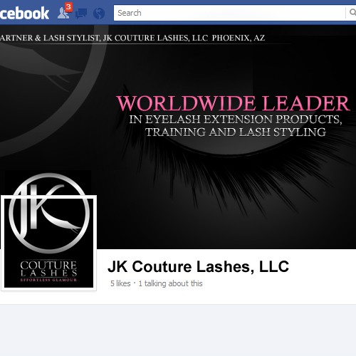 Need AWESOME new Facebook page for JK Couture Lashes