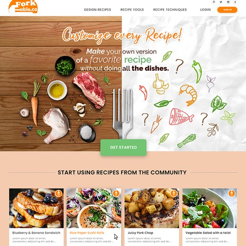 Forkable.Co- customize every recipe