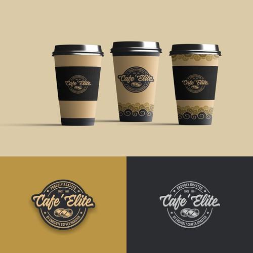 Vintage Logo Concept for Cafe' Elite