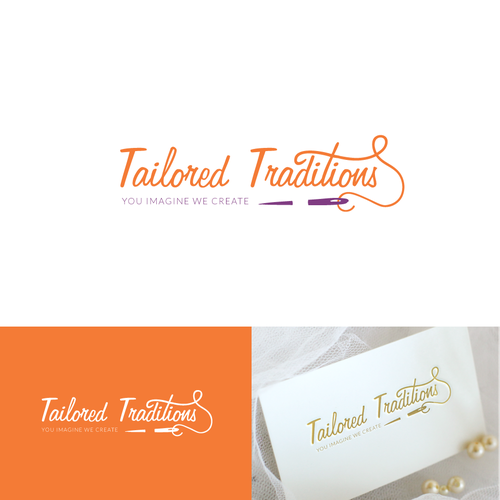 Creative elegant logo design for Tailored Traditions