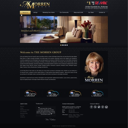 Help The Marg Morren Group with a new website design