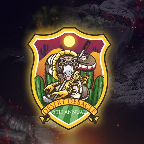 Snake and scorpion logo golf