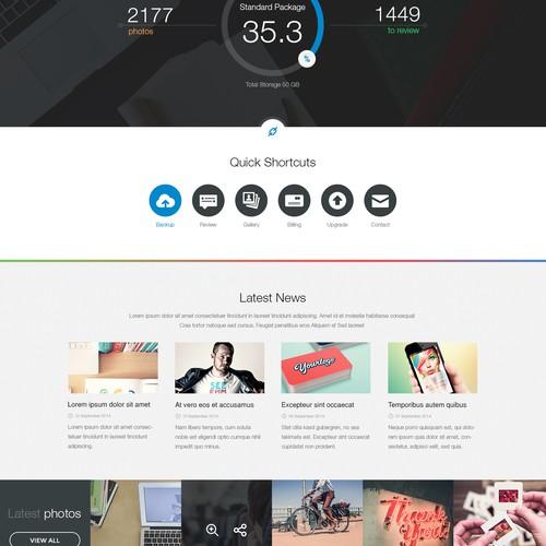 Create a responsive website design for PhotoDeluge.com
