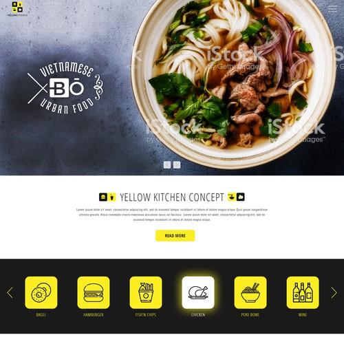 Restaurants Chain Web Design Concept