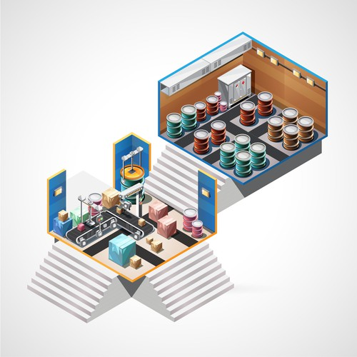 isometric part of illustration