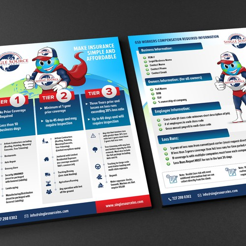 Design an eye catching flyer for Single Source Insurance