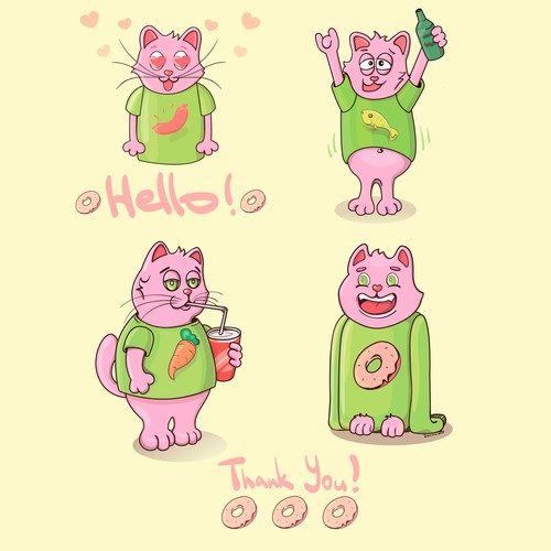 Cool cat emojis