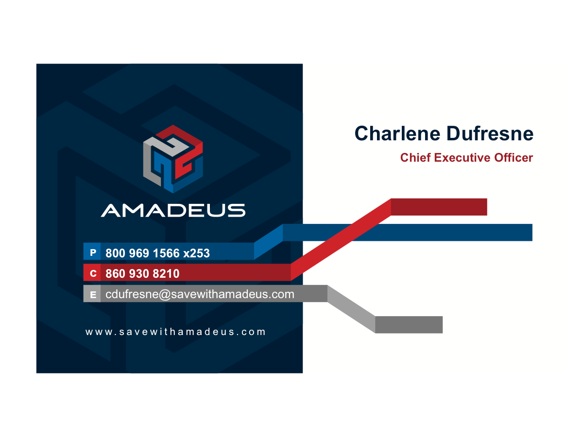 Amadeus Business Cards and Website
