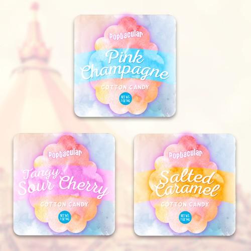 Cotton Candy Label design.