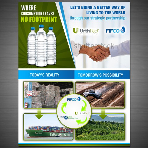 Create a Plastics Sustainability Flyer for Compostable Water Bottles