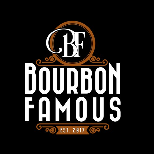 logo for Instagram's hottest and funniest bourbon reviewers - Bourbon Famous