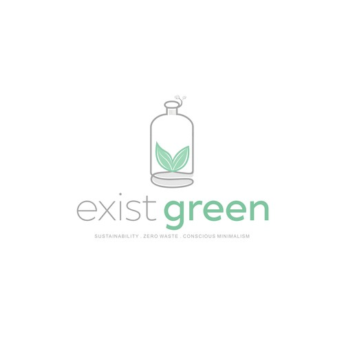 minimalist logo for my eco-conscious brand directory and zero-waste retail store