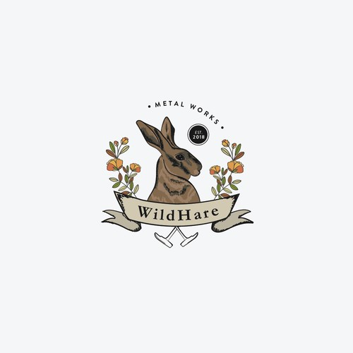 Vintage and classic logo for Wild Hare