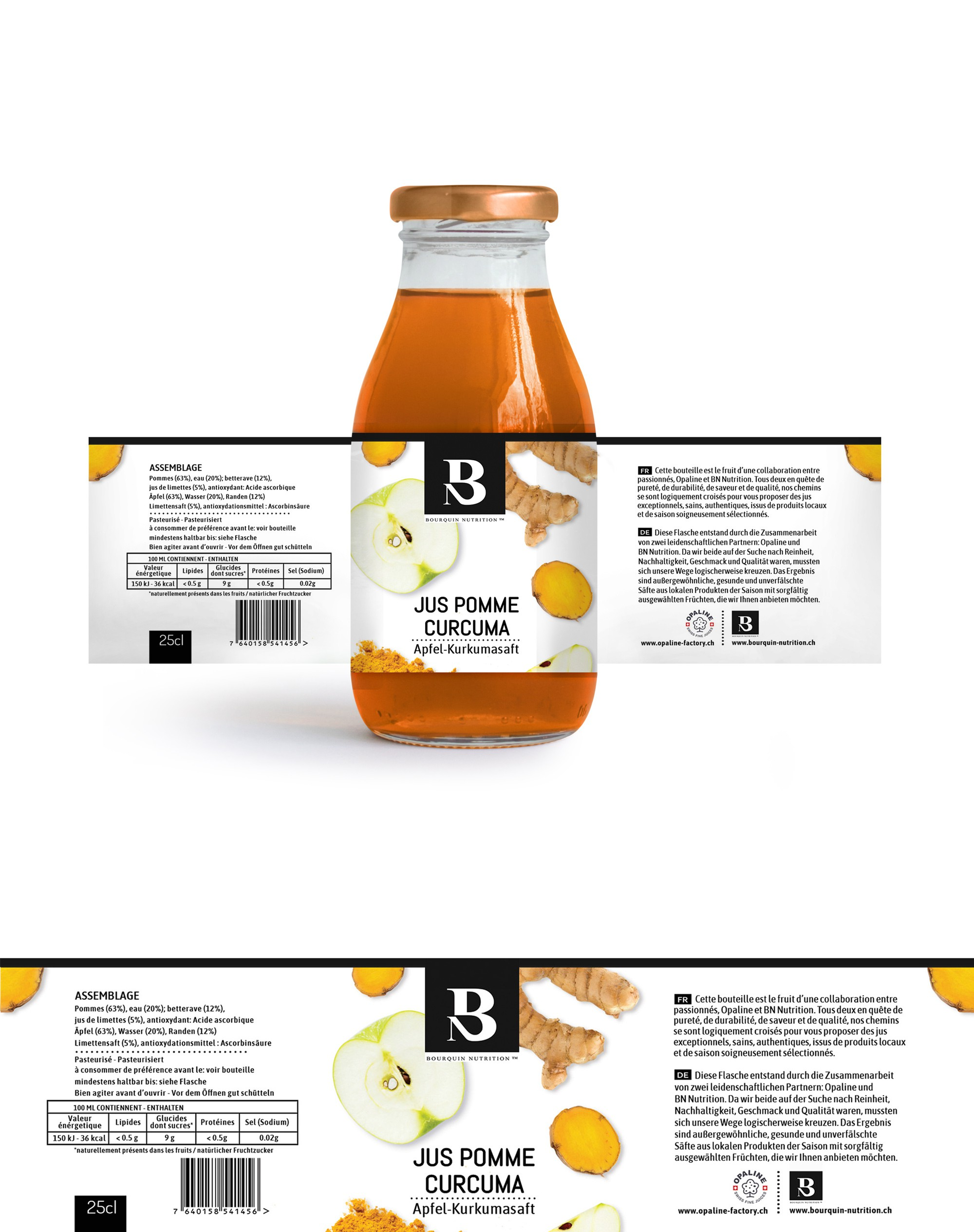The amazing label for our juices - part 2 and 3